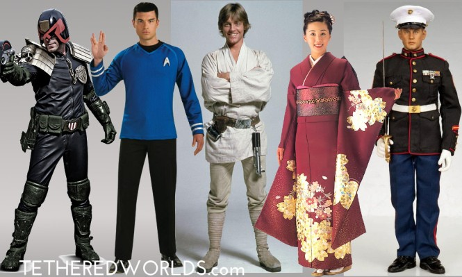Dredd_Spock_Skywalker_Kimono_Marine Dress_Trek_Star Wars_culture Clash